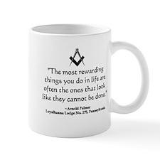 Arnold Palmer Quote Small Mug