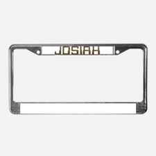 Josiah Circuit License Plate Frame