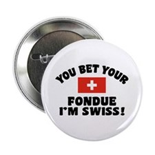 "Funny Swiss Fondue 2.25"" Button"