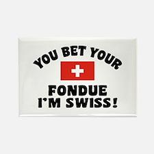 Funny Swiss Fondue Rectangle Magnet