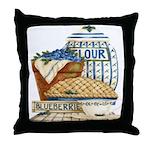 Blueberry Fixin's Throw Pillow