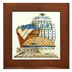 Blueberry Fixin's Framed Tile