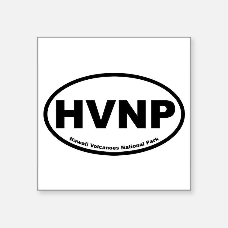 Hawaii Volcanoes National Park Oval Sticker