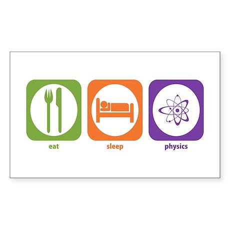Eat Sleep Physics Rectangle Sticker