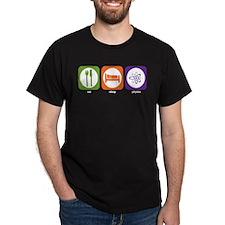 Eat Sleep Physics Black T-Shirt
