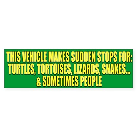 Reptile Lover Bumper Sticker