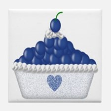 Blueberry Delight Tile Coaster