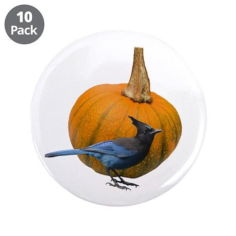 """Jay Pumpkin 3.5"""" Button (10 pack)"""