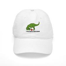 T-rex hates Christmas Cap