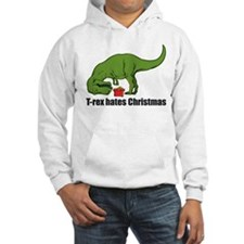 T-rex hates Christmas Hoodie