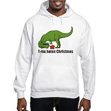 T-rex hates Christmas Hoodie Sweatshirt