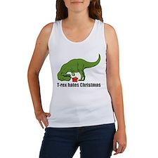 T-rex hates Christmas Women's Tank Top