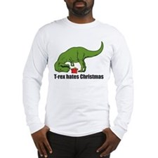 T-rex hates Christmas Long Sleeve T-Shirt