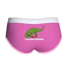 T-rex hates Christmas Women's Boy Brief
