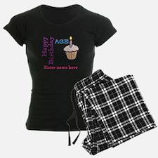 Personalized Birthday Cupcake Pajamas