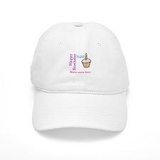 Personalized Birthday Cupcake Baseball Cap