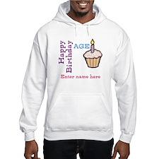 Personalized Birthday Cupcake Jumper Hoody