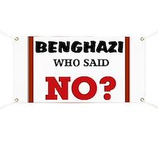 Benghazi Who Said NO? Banner