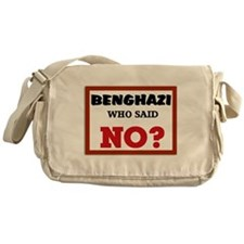 Benghazi Who Said NO? Messenger Bag