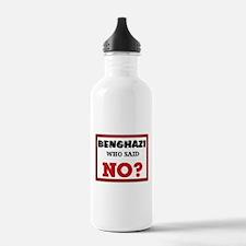 Benghazi Who Said NO? Water Bottle