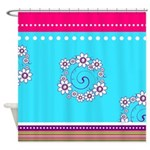 Fun Colors and Flowers Shower Curtain