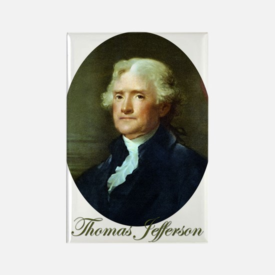 Thomas Jefferson Rectangle Magnet