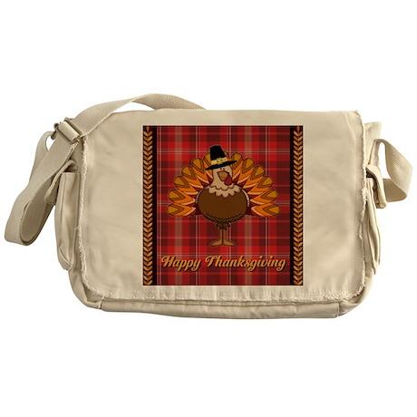 Happy Thanksgiving Turkey - Messenger Bag