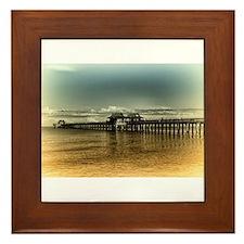 Naples Pier Framed Tile