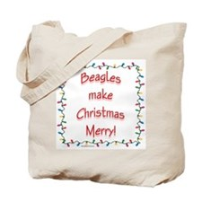 Merry Beagle Tote Bag