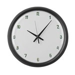 Flower Numbers Large Wall Clock