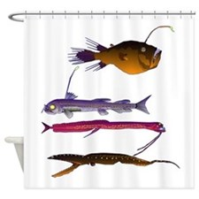Deep Sea Fish Teeth Shower Curtain
