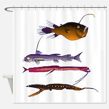 Deep Sea Fish Teeth Shower Curtain