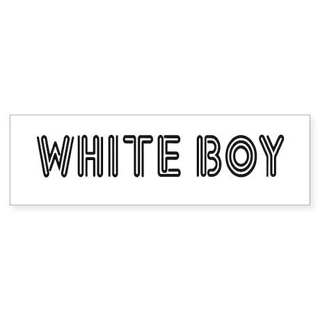 WHITE BOY Bumper Sticker