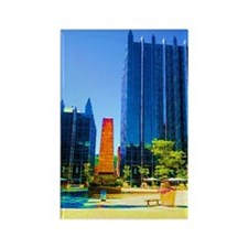PPG Place in Pittsburgh Rectangle Magnet