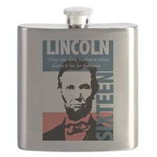 Abraham Lincoln 16th President Flask