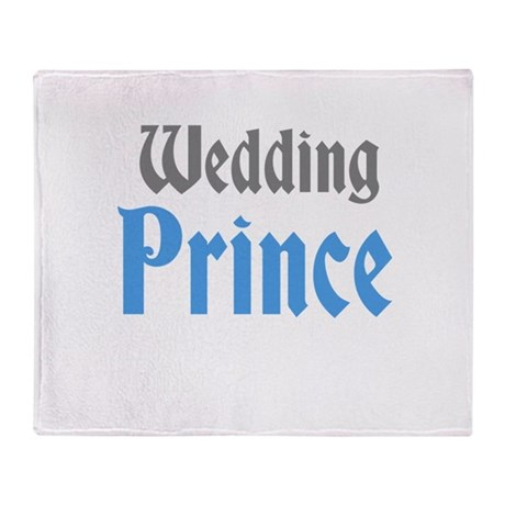 Wedding Prince Throw Blanket