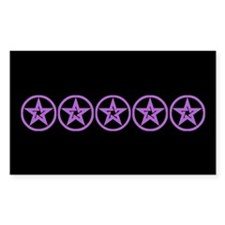Pentagram Purple As Above Dark Sticker (Rectangula