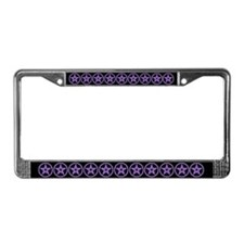 Pentagram Purple As Above License Plate Frame