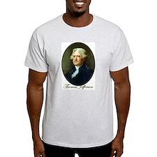 Thomas Jefferson Ash Grey T-Shirt