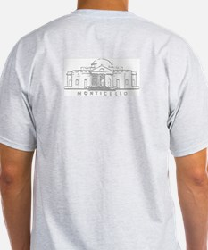 Thomas Jefferson Ash Grey T-Shirt