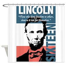 Abraham Lincoln 16th President Shower Curtain