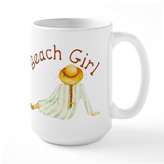 Beach Girl Large Mug