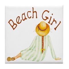 Beach Girl Tile Coaster
