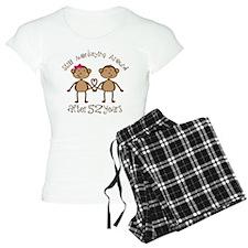 52nd Anniversary Love Monkeys Pajamas