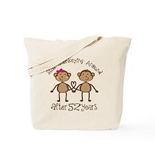 52nd Anniversary Love Monkeys Tote Bag