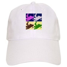 Snowmobiler Pop Art Baseball Cap