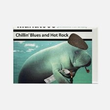 Chillin' Blues & Hot Rock Rectangle Magnet
