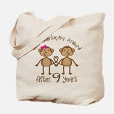 9th Anniversary Love Monkeys Tote Bag