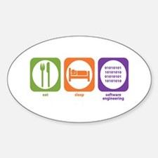Eat Sleep Software Oval Decal