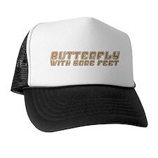 Butterfly with Sore Feet Trucker Hat